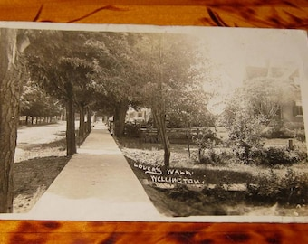 Herington & Son 1914 Lovers Walk Wellington Ontario Real Photo Postcard rppc Ont