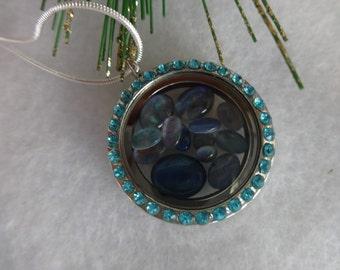 Opal Locket, Australian Opal Locket, Crystal Locket, Silver Locket, Opal Triplet Necklace, Opal Necklace, Unique Jewelry, Gift for Her