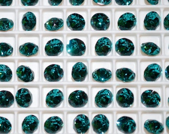 12 pieces 1088 Blue Zircon 6mm (29ss) Swarovski Crystal Chatons