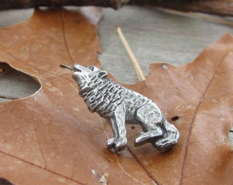 Wolf Lapel Pin- CC471- Woodland Animal, Wildlife, Woods, Nature, and Hiking Lapel Pins