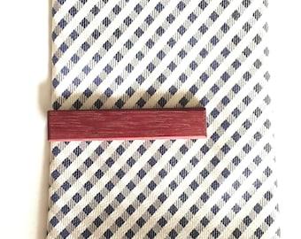 Purple Heart Tie Clip - Wooden Tie Clip - wood tie clip - tie clip