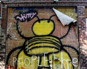 Idea Bee Graffiti, 5x7 Matted Photograph