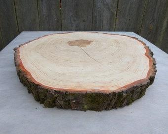 "18""-20"" cake stand, Large wedding cake stand, 18""-20""Large Alder Wood Slice, 18-20 inch wood slab, Rustic Wedding Decor,Large Cake Stand"