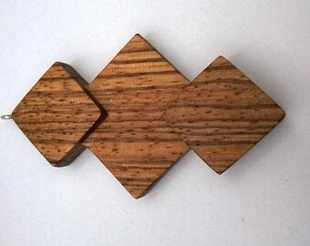 Necklace from Zebrano wood