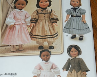 New Simplicity KeepersDollyDuds Designs 18' doll Clothes Pattern 1391
