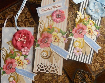 Shaby Chic Just for You Gift Tags - set of 3