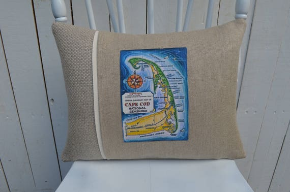 Cape Cod National Seashore Postcard Pillow (available in 3 styles and 2 prices)
