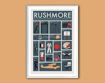 Rushmore 12x18 inches movie poster print