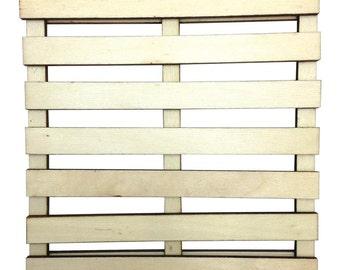 Art-C Mini Wood Pallet, Slatted Art Surface 6 X 6 Inches