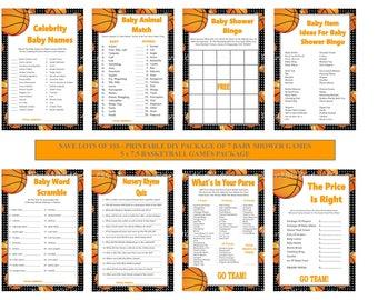 Basketball Baby Shower Games, Printable Basketball Baby Games, Basketball Bingo, Basketball Scramble, Sport Games - Printables 4 Less 0148
