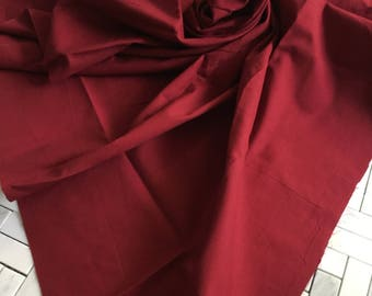 Red Cotton Fabric Remnant