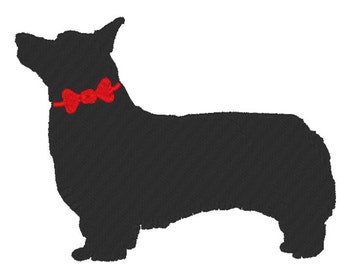 Dog Silhouette - Corgi - Embroidery Design File - Instant Download - multiple sizes - multiple formats