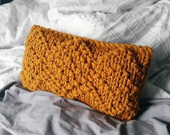 Chunky Knit Pillow Pattern, Bulky Knit Pillow Pattern, The Olivia Pillow Pattern, Pattern for Chunky Knit Pillow