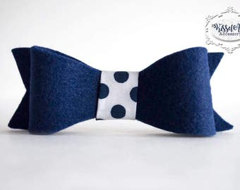 Navy Blue Bow tie-can ONLY be purchased with a frame from Kissel Ave!