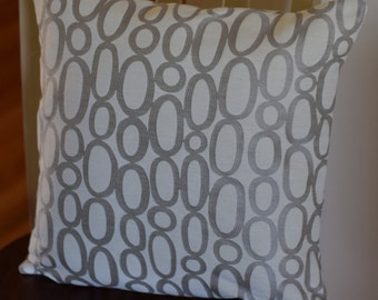 HGTV Home Looped Fog 18x18 Throw Pillow Cover with Invisible Zipper