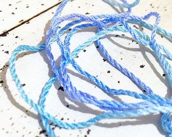 Hand Dyed Twisted Silk Cord /String for Jewelry, Needlework and Braids
