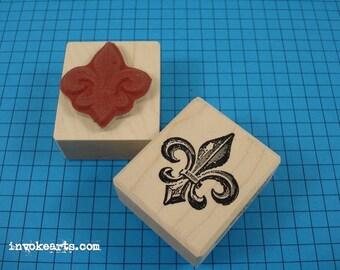 Fleur D'Lis Stamp / Invoke Arts Collage Rubber Stamps