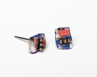 Colorblock Stud Earrings - Painted City Collection