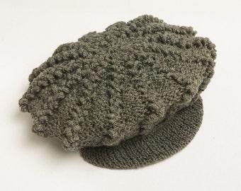 Hemp Crochet Newsboy Beanie