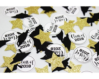 Graduation Confetti, Class of 2018 Confetti, Graduation Decorations