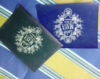 Vintage Labels, French Soap Labels, French Label, 40s Labels,  Vintage Ephemera, Savon, Maya Ala Rosee Orientale, Blue Labels, French Decor