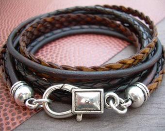 Leather Bracelet Mens Leather Bracelet Leather Bracelets for Women Womens Bracelet Triple Wrap Womens Mens Jewelry Womens Jewelry
