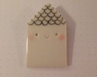 Porcelain House pin