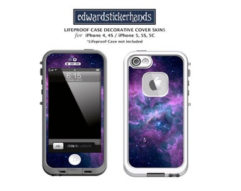 Lifeproof Case Lavender Nebula Decorative Cover Skin Decal for iPhones!