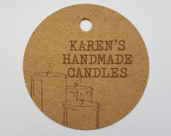 10x Personalised Handmade candle tags, handmade tags, swing tags, gift tags, tags, labels, swing tags, candles, wedding favours, hand made