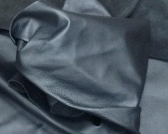 AB43.  Black Leather Cowhide Partials
