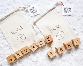 Personalized Baby Blocks / Personalized Baby Gift / Baby Name Blocks / Baby Shower Gift / First Birthday Gift / Baby Christmas Gift