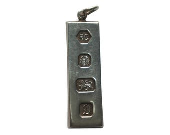 Stirling Silver Ingot Sheffield Pendant