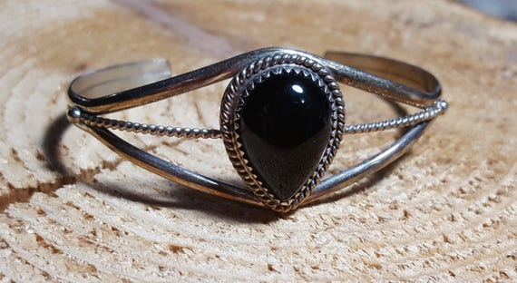 Sterling and Onyx Bracelet