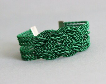 Green Rope Bracelet Green Knot Bracelet Sailor Knot Bracelet Rope Jewelry Rope Bracelet Nautical Bracelet Rope Knot Bracelet Nautical Knot