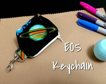 EOS Lip balm Keychain Saturn Solar System