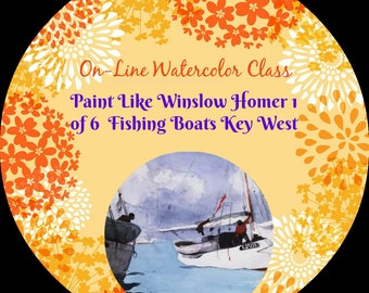 Online-Aquarell-Klasse-wie Paket und Kritik wie zu malen wie Winslow Homer--Aquarelle-Anleitung-Malunterricht