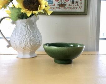 Mid Century Modern Green Bowl, Footed Haeger Ceramic Planter, Small Fruit Bowl, Indoor Fairy Garden Planter, Cactus Garden Bowl