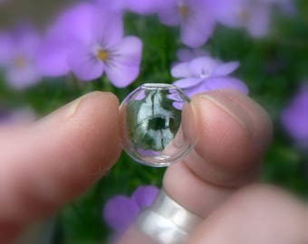 FLAW SALE! (Factory 2nds)....16mm Glass Globes/Vials with hole (miniature/round/empty/small/large/bottles/clear/little/ornaments/holes)