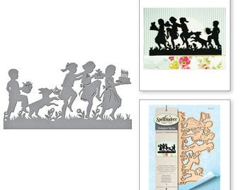 Spellbinders Shapeabilities Party Kids Etched Dies from the Joyous Celebrations Collection by Sharyn Sowell S4-752