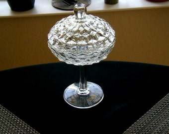 Vintage Antique Glass Candy  Dish