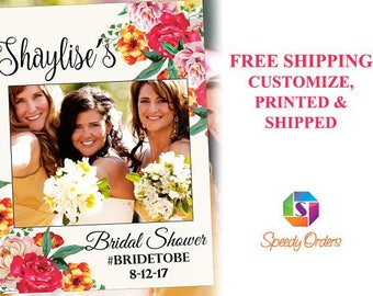 Large Floral Bridal Shower Photo booth prop, Bridal Shower Photo Prop, Bridal Shower Photo booth frame , Bridal Shower photo frame ;10011250