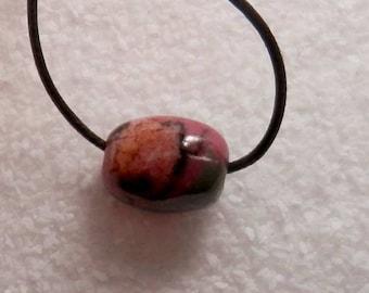 Oregon Rhodonite Hand Cut Focal Bead Designer Bead Gemmy Rhodonite Bead by Holey Stones