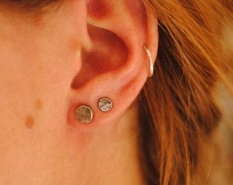 Full Moon Stud Earrings | Sterling Silver