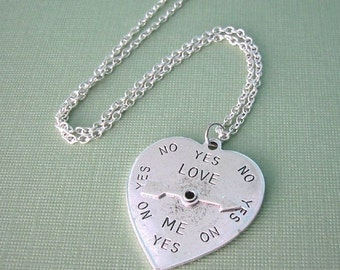 SALE! Heart Spinner Necklace, last one!