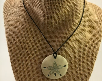 Dark Teal Sand Dollar Necklace