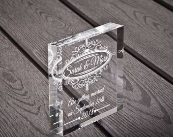 Save the Date acrylic block