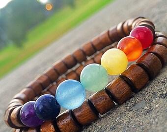 Chakra Bracelet, 7 Chakra Bracelet, Chakra Wood Bracelet, Chakra Jewelry, Seven Chakras, Bracelet Chakra, Seven Chakras, Bracelet Chakra