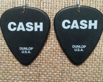 Johnny Cash Guitar Pick Earrings