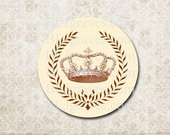 Stickers Envelope Seals Crown Wreath Royalty Wedding Party Favor Treat Bag Sticker SP081