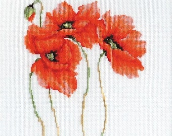 Poppies SB2224 - Cross Stitch Kit by Luca-s